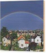 Monkstown, Co Dublin, Ireland Rainbow Wood Print