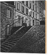 Montmartre After Dark Wood Print