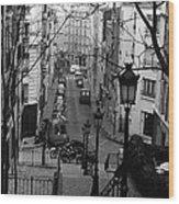 Monmatre Paris France Wood Print