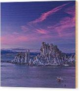 Mono Lake's Fiery Sky Wood Print