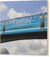 Mono Tron Wood Print
