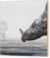 Monoclonius Dinosaur Wood Print