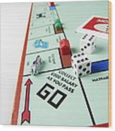 Monopoly Board Game Wood Print