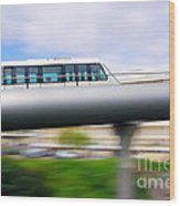 Monorail Carriage Wood Print