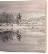 Monotone Winter Wood Print