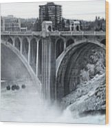 Monroe St Bridge 2 - Spokane Washington Wood Print