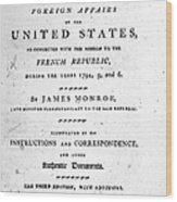Monroe: Title Page, 1798 Wood Print by Granger