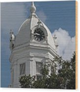 Monroeville Courthouse Clock Wood Print