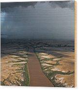 Monsoon Rains Over A Muddy River Wood Print by Randy Olson