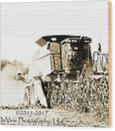 Monster Tractor Wood Print