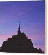 Mont St. Michel At Sunset Wood Print