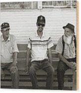 Montana Bench Boys Part II Wood Print