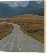 Montana Highway Wood Print