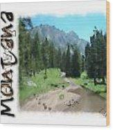 Montana Howdy Wood Print