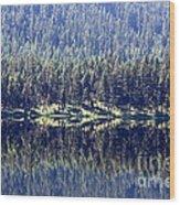 Montana Lake Reflection Wood Print