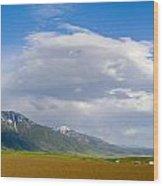 Montana Ploughed Earth Field Wood Print