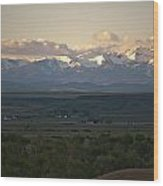 Montana Sunrise Wood Print