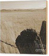 Montana Vista Wood Print