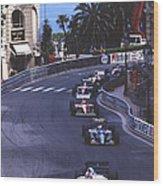 Monte Carlo Casino Corner Wood Print