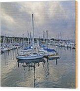 Monterey Harbor Marina - California Wood Print