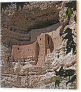 Montezuma Castle Cliff Dwellings In The Verde Valley Of Arizona Wood Print