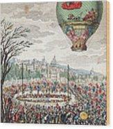 Montgolfier Balloon Le Flesselles Wood Print