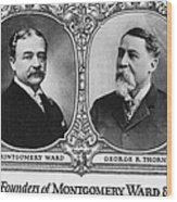Montgomery Ward Founders Wood Print