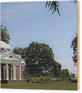 Monticello Grounds Wood Print