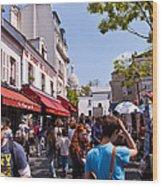 Montmartre Artist Colony Wood Print