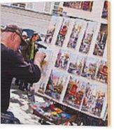 Montmartre Street Artists Wood Print
