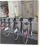 Montreal Bicycles Wood Print