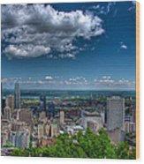 Montreal View Wood Print