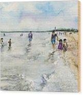 Montrose Beach Wood Print