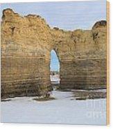 Monument Rocks Arch Wood Print