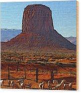 Monument Valley 2 Pastel Wood Print