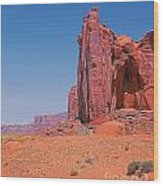 Monument Valley Elrphant Butte And Hogan Wood Print