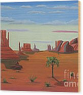 Monument Valley Lone Tree Wood Print