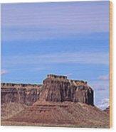 Monument Valley Mesa  Wood Print