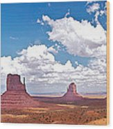 Monument Valley Pano Wood Print