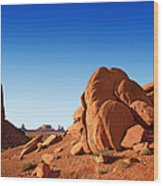 Monument Valley Rocks Wood Print