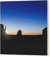 Monument Valley Sunrise Wood Print