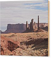 Monument Valley Totem Pole Wood Print