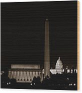 Monuments In Black And White Wood Print
