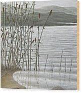 Moods Of The Lake Wood Print