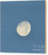 Moon Before Dark Wood Print