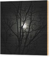Moon Branches Wood Print by Jennifer Compton