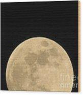Moon Galaxy Saturn Wood Print