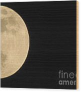 Moon In Galaxy Uranus Wood Print