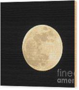 Moon In Galaxy Venus Wood Print
