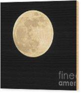 Moon In The Galaxy Mars Wood Print